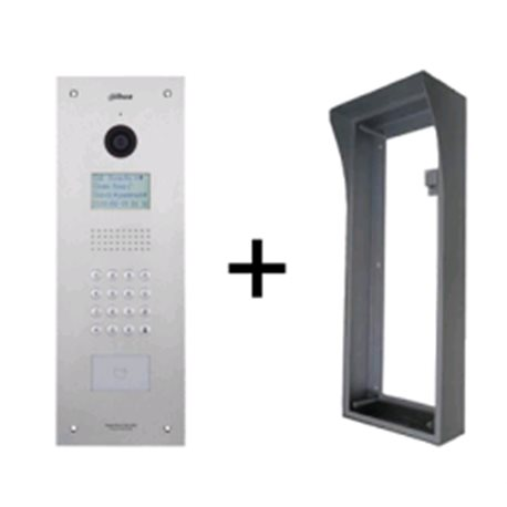 Dahua IP intercom buitenpost appartment, 1.3MP CMOS camera incl. opbouw behuizing