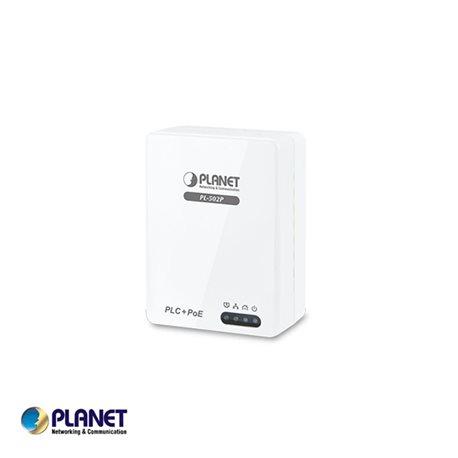 Planet, 200Mbps HomePlug AV Adapter with built-in 802.3af POE Injector PT-PL-502P-EU