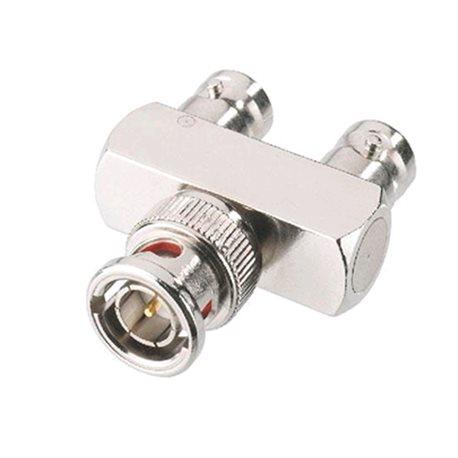 BNC adapter male - 2x BNC female