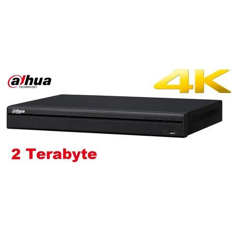 Dahua NVR4216-16P-4KS2 16 kanaals 1U 4K H.265 16 x PoE NVR incl 2 TB HDD