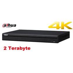 Dahua DH-NVR4208-8P-4KS2 netwerk video recorder, 4K NVR 8 kanalen met PoE + 2TB HDD