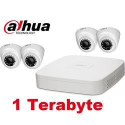 Dahua HCVR7104C-S3 + 4xHDW1200R-S3 Kit + 1TB HDD
