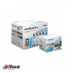 Dahua NVRKIT03 KIT NVR2104-P-S2 + 4 x HDW1220S-0360-S2 incl 1 TB HDD