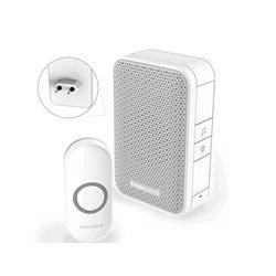Honeywell Draadloze plug-in deurbel met drukknop – Wit