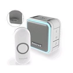 Honeywell Draadloze plug-in deurbel met slaapstand, nachtlicht en drukknop – Grijs