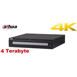 Dahua NVR608-128-4KS2 128 kanalen 4K netwerk video recorder incl. 4 TB HDD