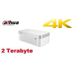 Dahua DH-XVR7108E-4KL-B-X/2TB 8 Channel Penta-brid 4K Elegant 1U Digital Video Recorder
