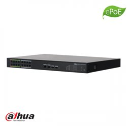 Dahua 16 kanaals L2 Managed ePoE Switch, 2x1000, 16x10/100 (8 ePoE+8 PoE)