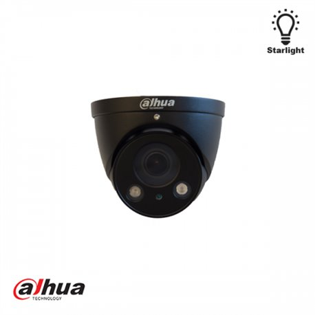 Dahua 2 MP Motorized Starlight IR Dome Camera ZWART