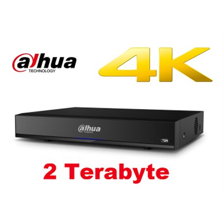Dahua 16 Kanaals Penta-brid 4K 1U Digital Video Recorder incl 2TB HDD
