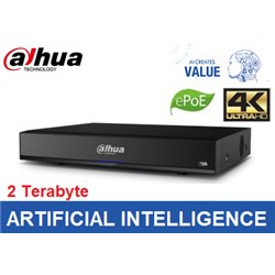 Dahua NVR4216-16P-I 16 kanaals 16 x PoE 1U AI Network Video Recorder incl 2TB HDD