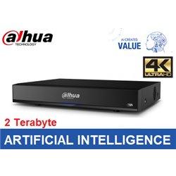 Dahua 16 kanaals 1U AI Network Video Recorder incl 2TB HDD