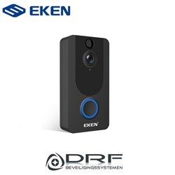 EKEN EK-EKENDOORV7 V7 video deurbel, incl externe bel en batterijen, draadloos - zwart