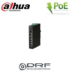 Dahua PFS3106-4ET-60 4-Port PoE+ Switch, 1 x UTP en 1 x SFP